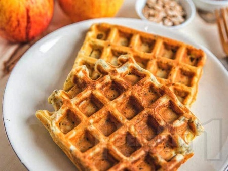 Гофрети с пълнозърнесто брашно, ленено семе и пшеница - снимка на рецептата